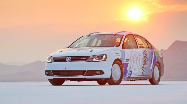 vw jetta hybrid land speed record 628 Volkswagen Jetta Hybrid sets world speed record at 185 mph