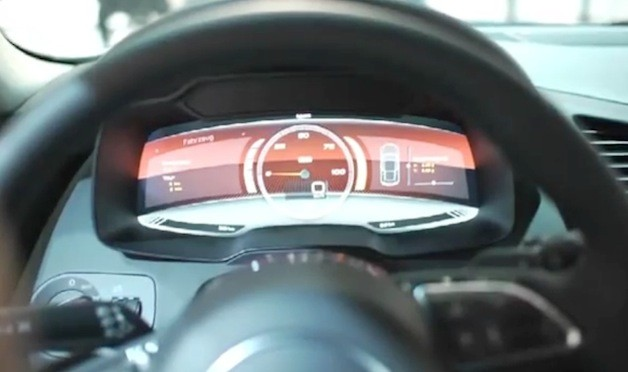 Audi R8 e-tron's digital display