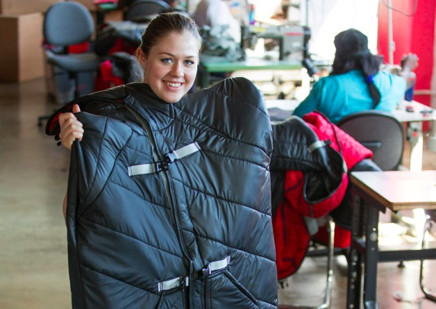 GM Scrap Vehicle Material Insulates Coats for Homeless