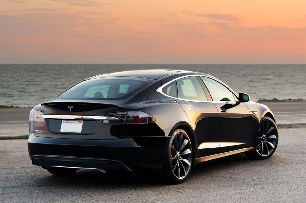 tesla model s rear three-quarter