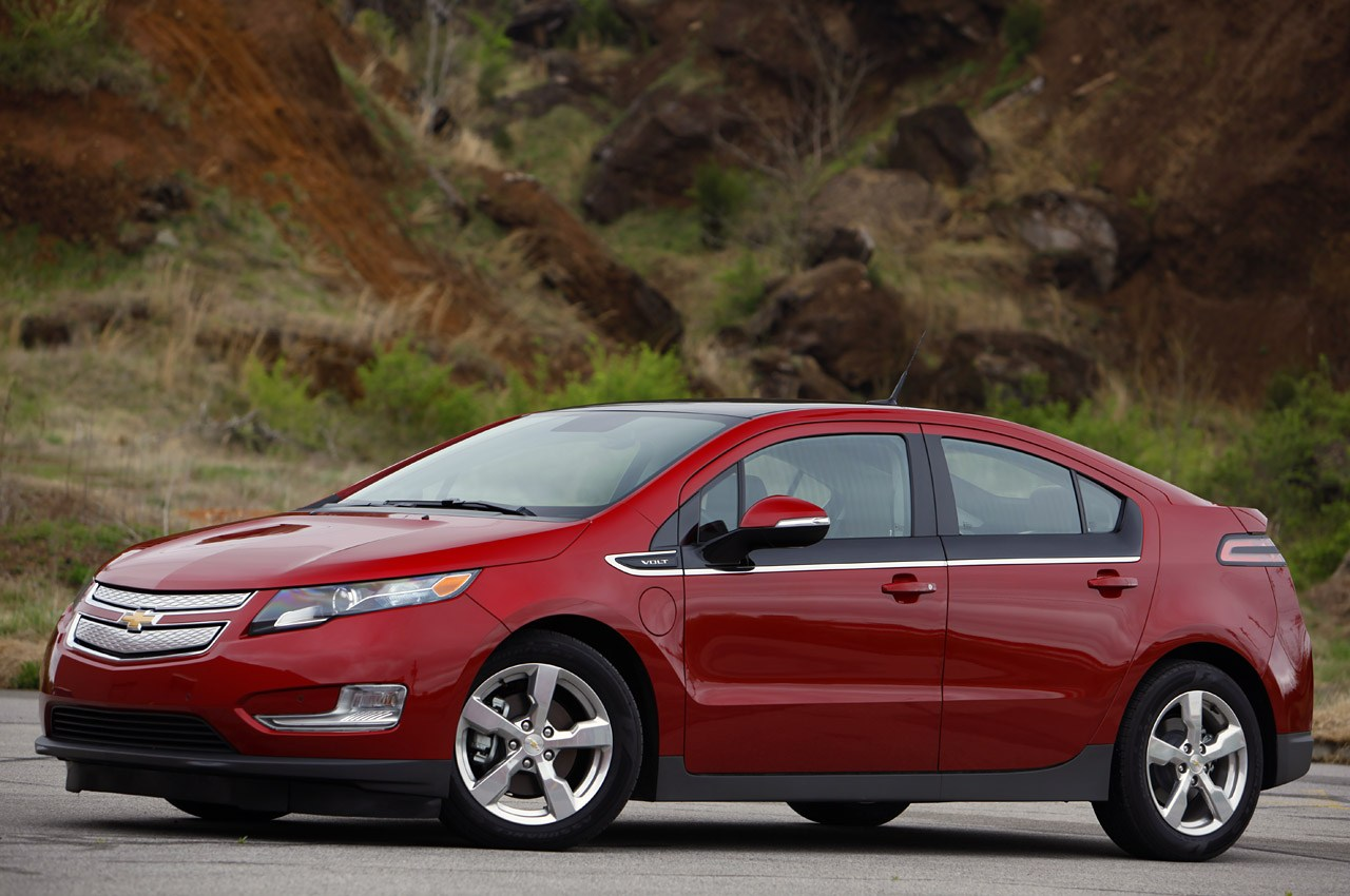 Chevrolet Volt - maroon - front three-quarter view