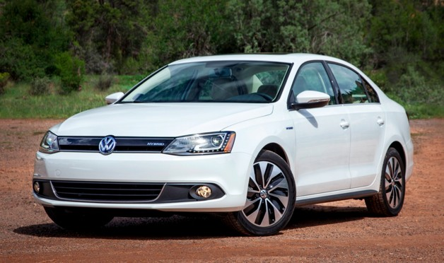 2013 Volkswagen Jetta Hybrid - white, front three-quarter view