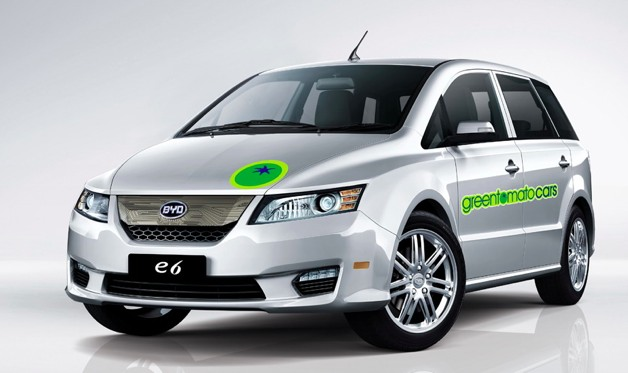 byd e6 electric taxi green tomato cars