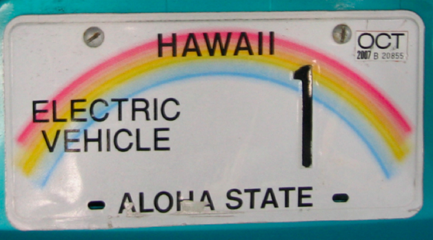 hawaii electric vehicle license plate