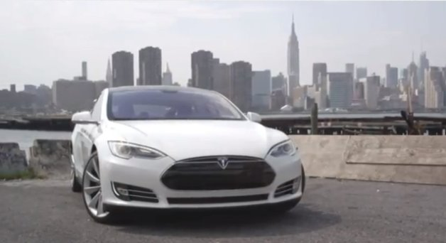tesla model s in new york city