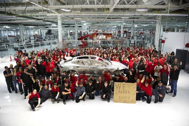 Tesla's 1,000th Model S frame