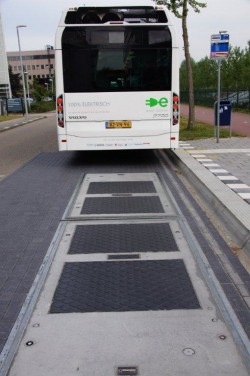 wireless charging bus induction panels