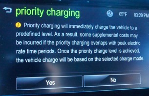 chevy spark priority charging