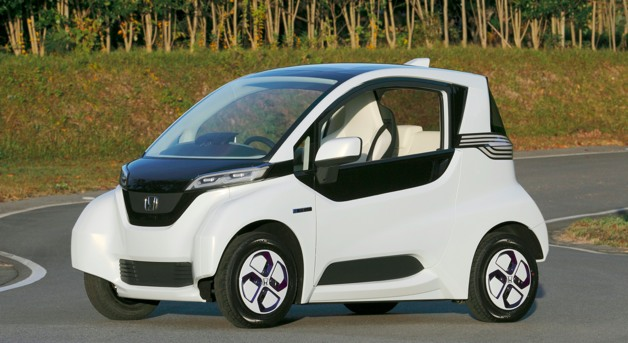 honda micro commuter ev - front three-quarter view