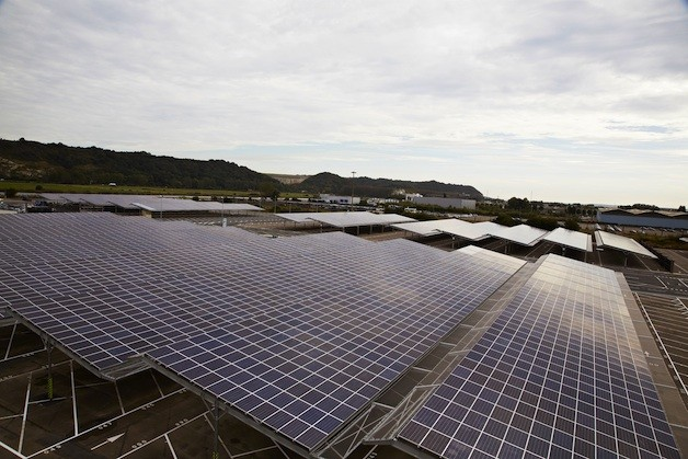 Renault's photovoltaic panels in France