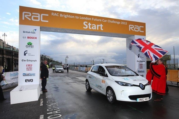 Renault ZOE winning the RAC Future Car Challenge