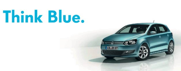 volkswagen think blue slogan