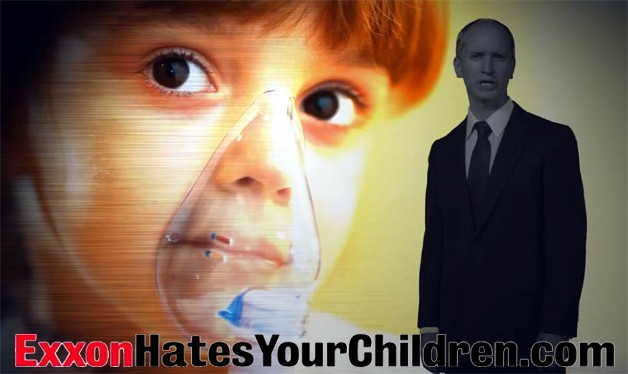 screen capture from Exxon Hates Your Children ad