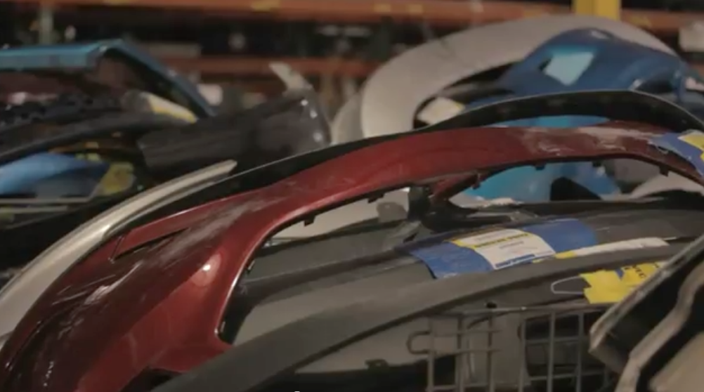 Ford's stepped up its parts recycling efforts