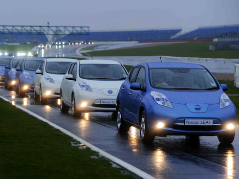 Nissan Leaf UK Parade
