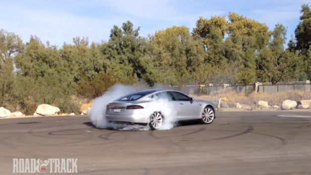 tesla models s burn out