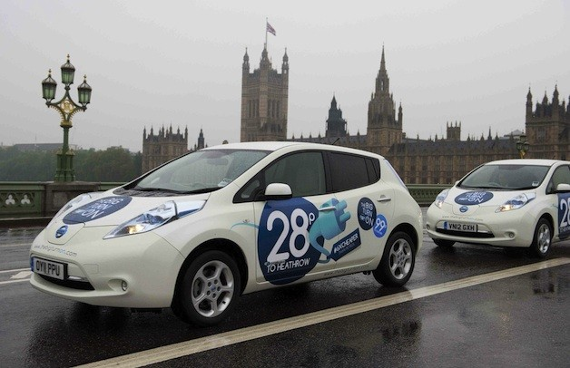 Nissan Leaf trial taxis in London