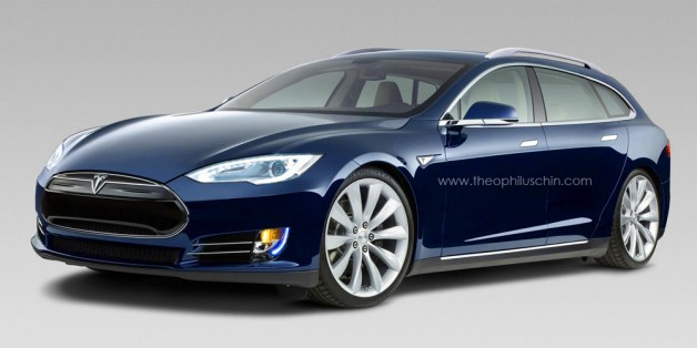 tesla model st render by Theophilus Chin
