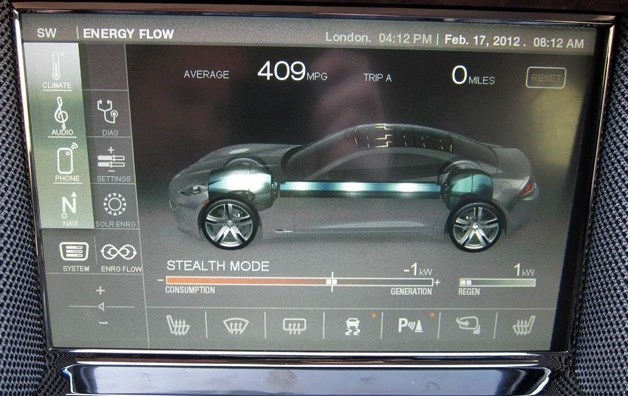 fisker karma infotainment