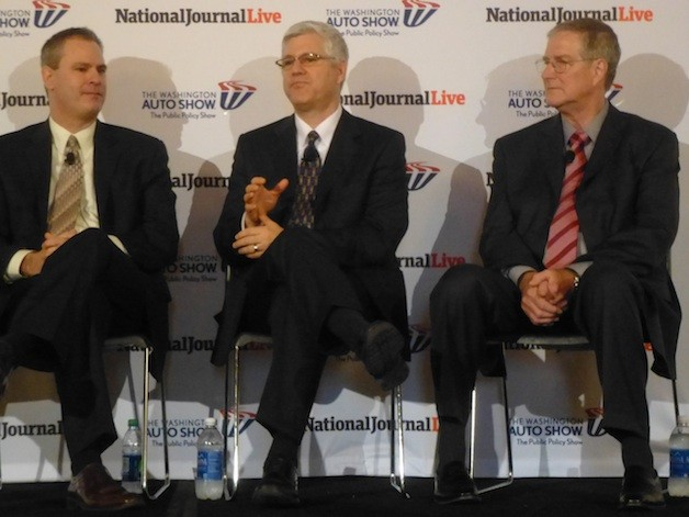 Pictured from left to right: Tom Stricker, Toyota; Robert Bienenfeld, Honda; Reg Modlin, Chrysler.