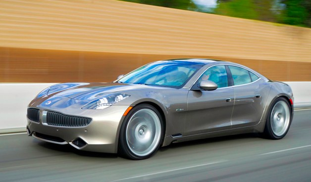 2012 Fisker Karma at speed