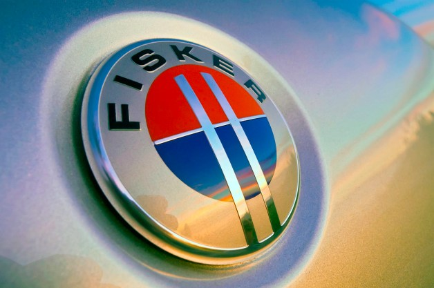 Fisker logo on sheetmetal