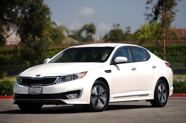 Kia Optima Hybrid - front three-quarter view