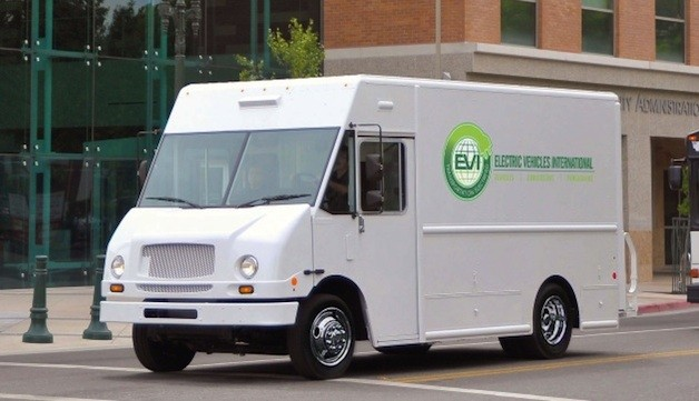 Electric delivery van from Electric Vehicles International