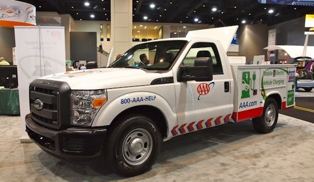 AAA brings first fast charging roadside assistance truck