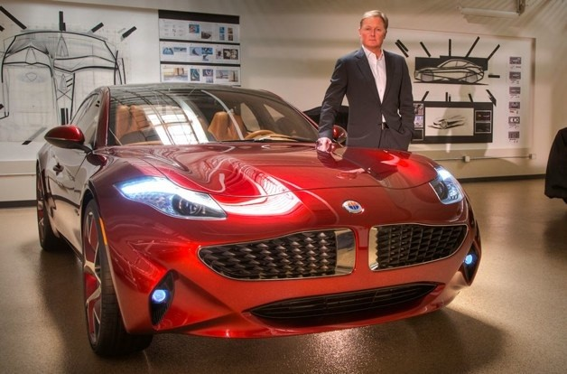 Henrik Fisker with fisker atlantic phev