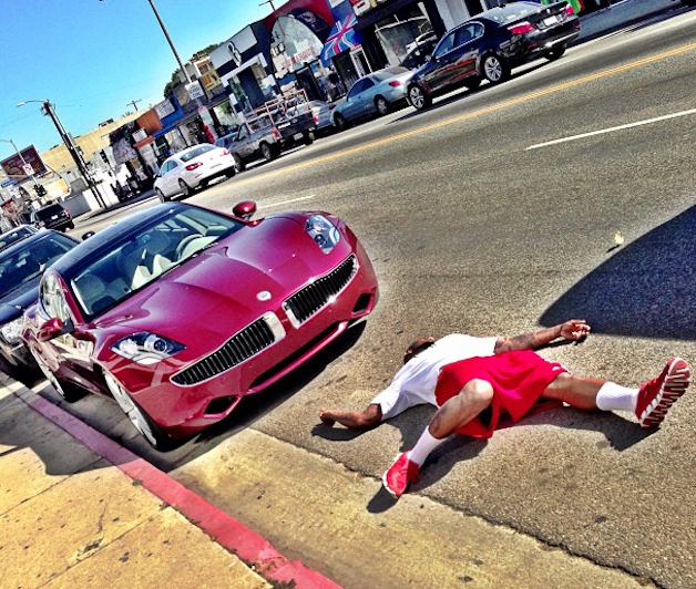 The Game and his new Fisker Karma
