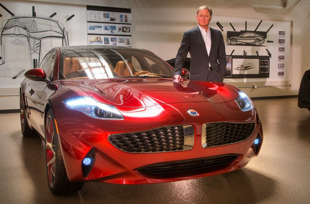 Henrik Fisker with Atlantic concept car
