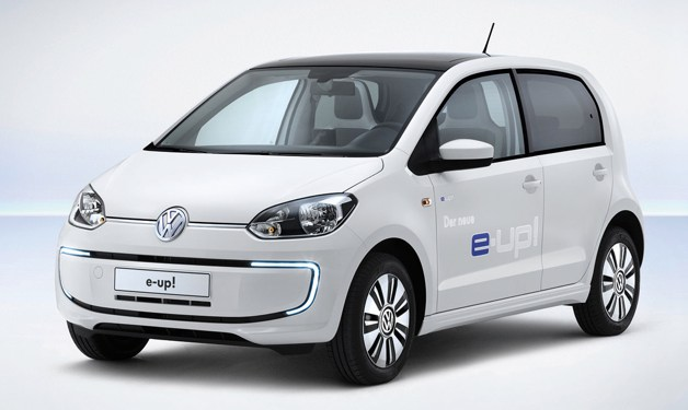 Production Volkswagen E-Up! - front three-quarter studio shot