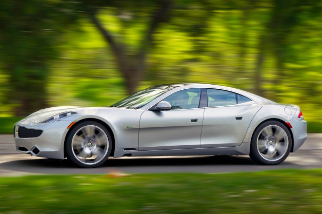 2012 Fisker Karma - profile - in motion