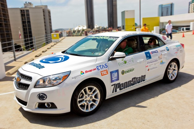 Official: E85 plug-in hybrid Chevy Malibu powers Penn State to second year EcoCar 2 win [w/video]