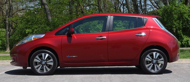 2013 Nissan Leaf side view