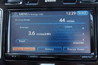 2013 Nissan Leaf mileage info display