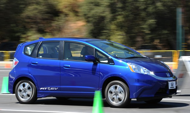 Honda Fit EV - on the move