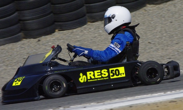 Electric go-kart at refuel 2013 at Mazda Raceway Laguna Seca