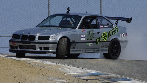 EV West BMW conversion at Refuel 2013 at Mazda Raceway Laguna Seca