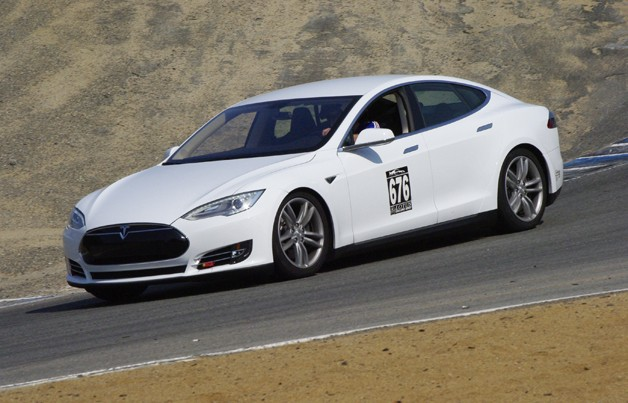 Tesla Model S at Refuel 2013 at Mazda Raceway Laguna Seca