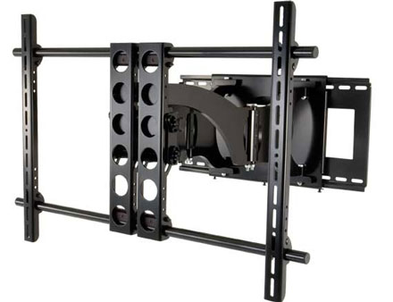 Sanus articulating wall mount. Since mounting a TV on the wall is all the
