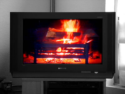 Comcast Yule Log: Always a Good Look in the Snow