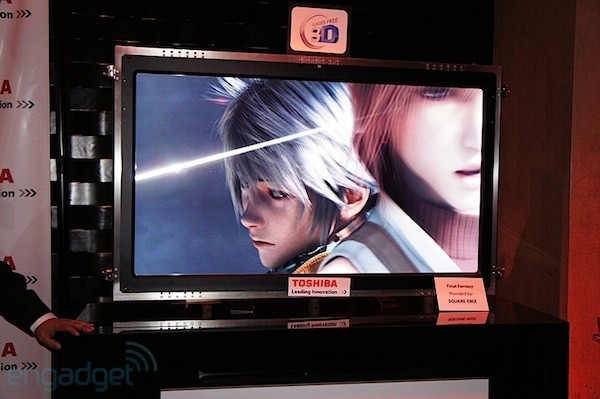 Toshiba 4k glassless 3DTV prototype