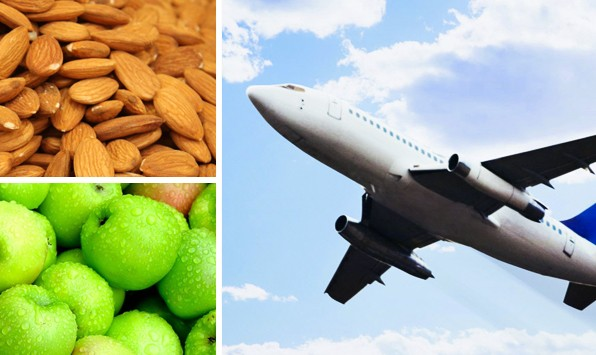 Almonds, apples and travel snacks