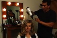 Heidi having hair dried by Eric Gabriel