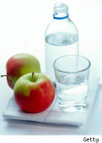 Water and apples