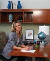 Heidi in her office