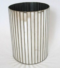 Worlds Away Faceted Round Tall Basket