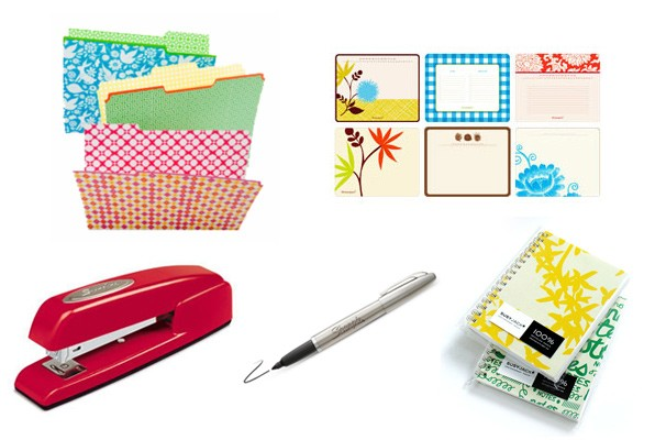 Cheerful office supplies